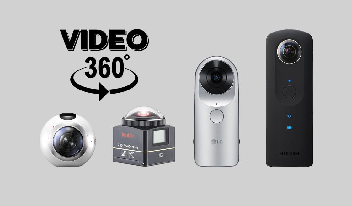 Cámaras para videos 360